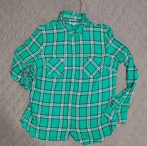 Merona Plaid Lightweight Button down Shirt